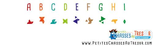 Chasse au trésor géométrique coder alphabet