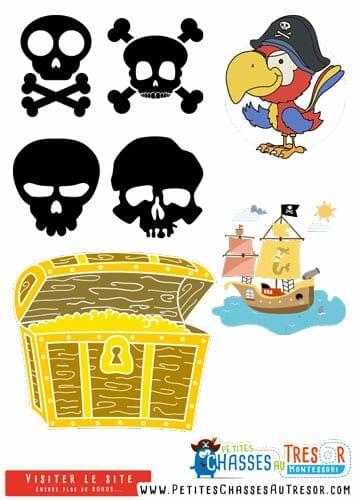 Décoration anniversaire de pirate à imprimer