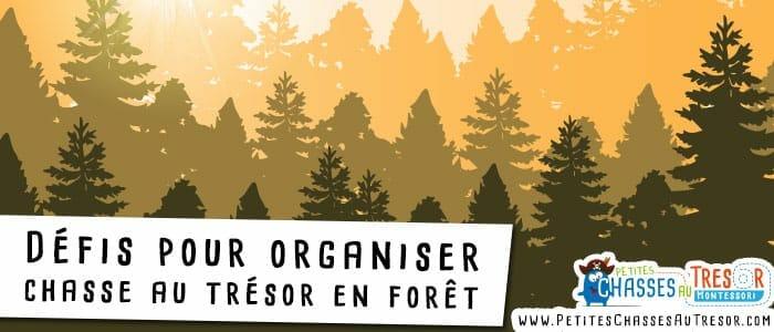 Défis de chasse au trésor à faire dans la forêt
