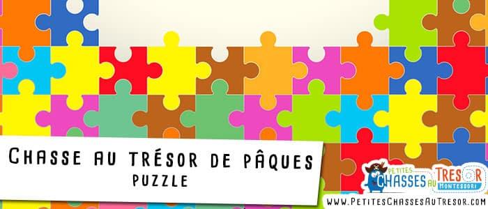 Chasse au trésor amusante pour pâques avec des puzzles