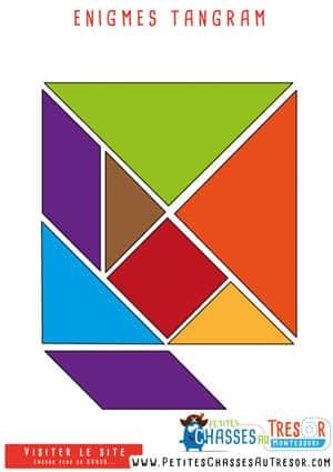 Enigmes pour jeu de piste avec des tangrams
