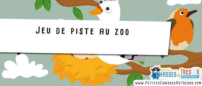 Jeu de piste au zoo avec des enfants