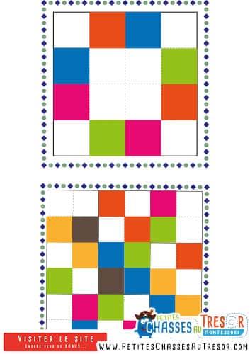 Sudoku avec des couleurs pour enfant