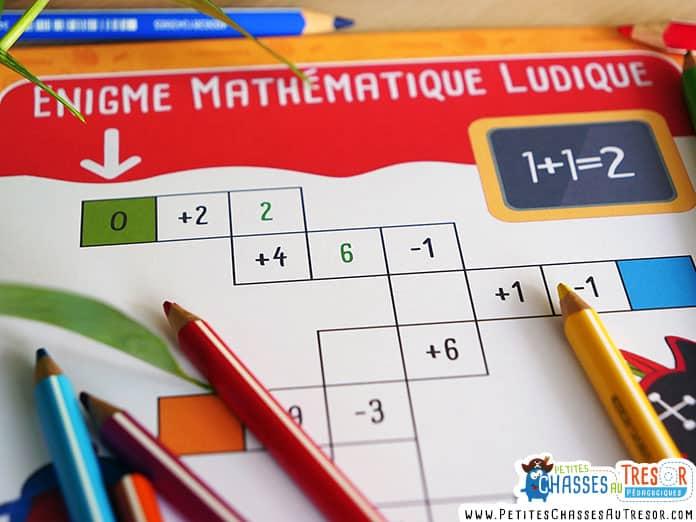 Énigme de maths pour les enfants
