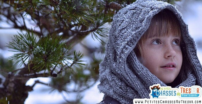 enfant dans la nature en hiver