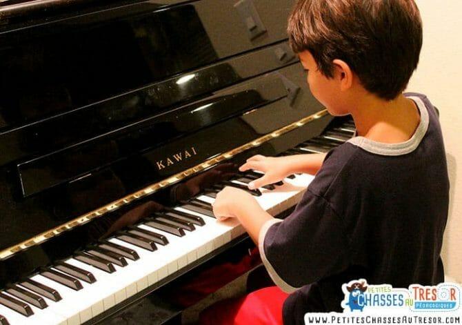 Apprentissage musique enfant