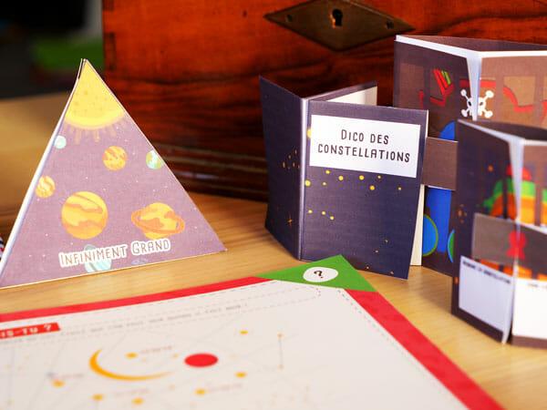 Exemple d'énigme pour une chasse au trésor sur le thème de l'espace