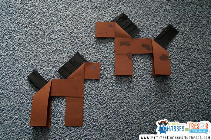Laisser son enfant choisir la couleur / le type de papier d'origami