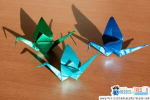 L'origami suscite d'autres modalités d'apprentissage.