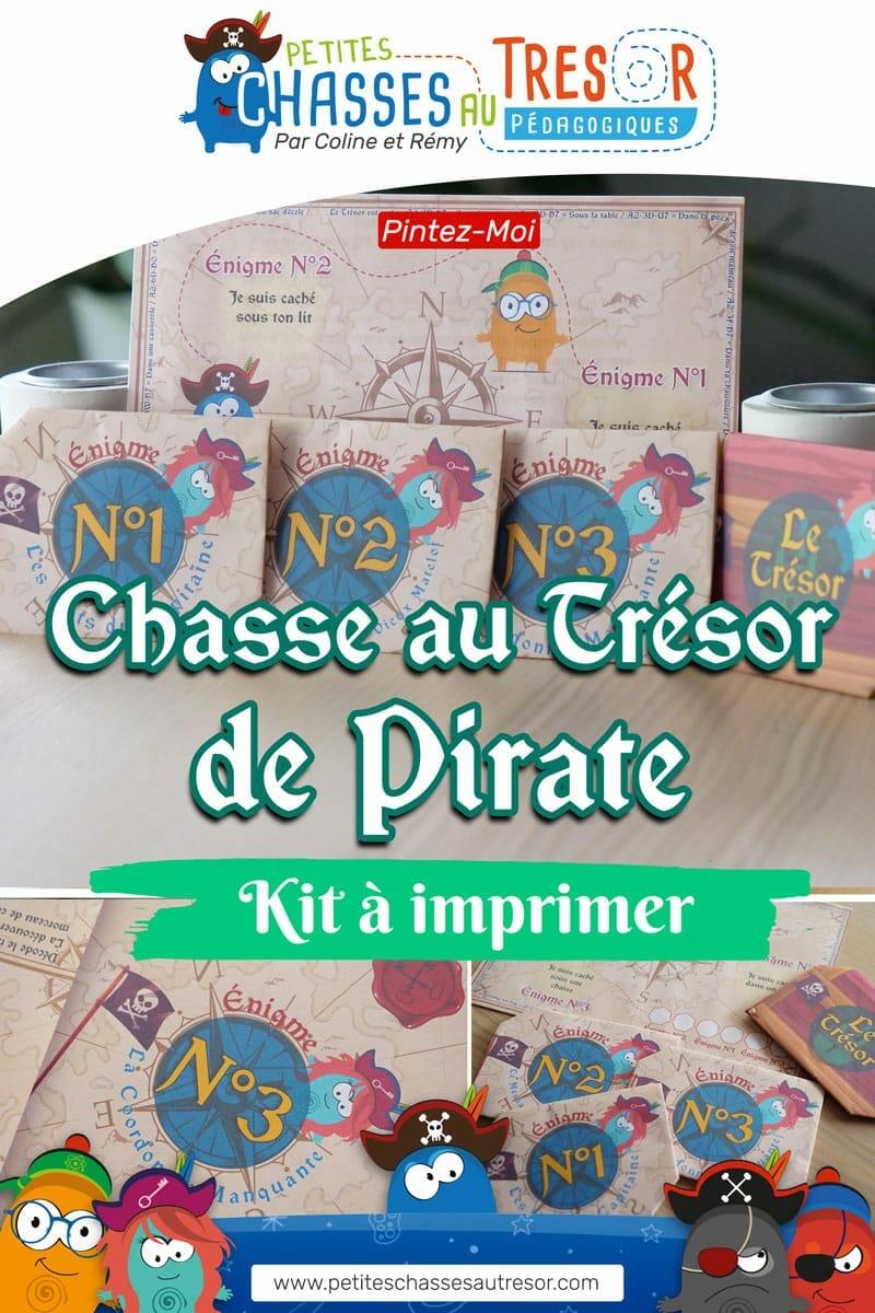 Chasse au trésor de pirate visuel pinterest