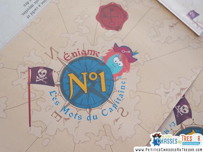 Énigme à imprimer pour une chasse au trésor de pirate