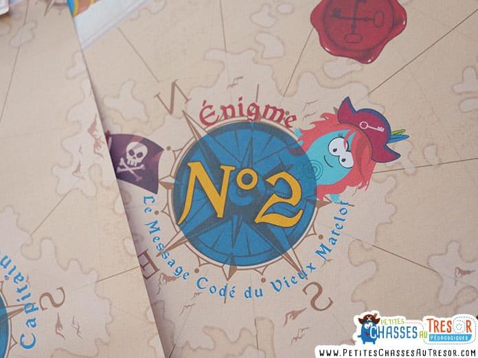 Énigme pour enfant de la chasse au trésor de pirate