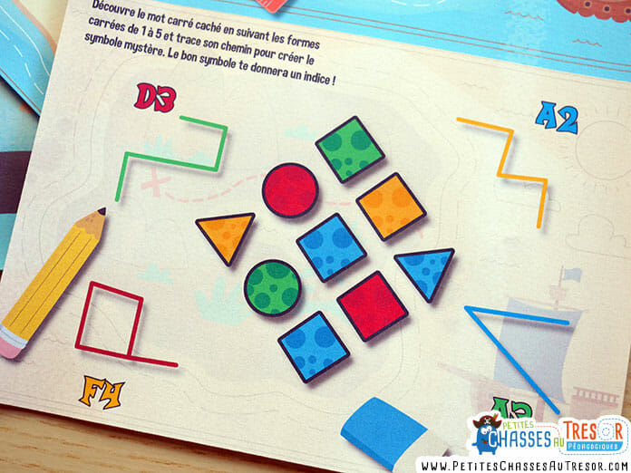 énigme pour enfant de maternelle avec des formes