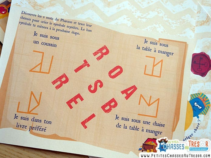 2nigmes de l'escape game facile avec des lettres