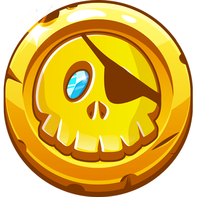 pièce en or chasse au trésor de pirate