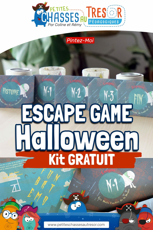 Pinterest escape game d'Halloween