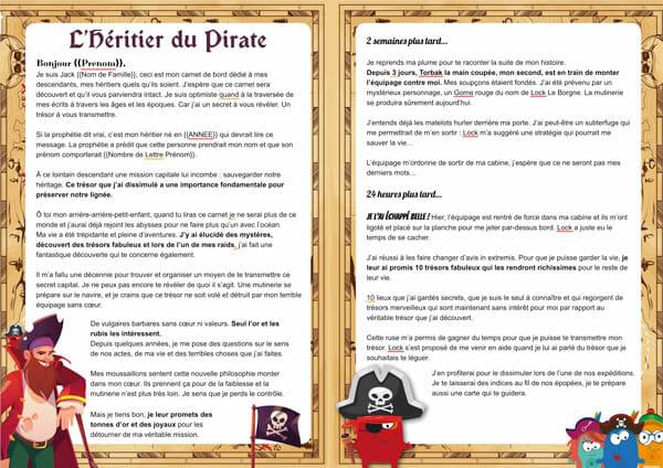 Histoire de la chasse au trésor de pirate